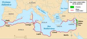 Rutas comerciales Fenicios